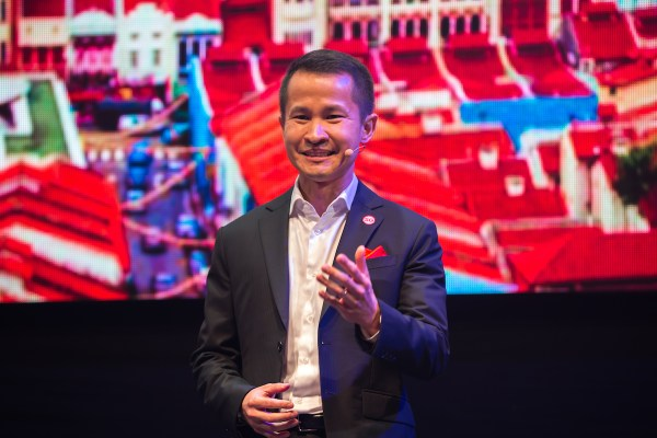 Singapore Tourism Board Chief Executive Lionel Yeo introduces Passion Made Possible branding