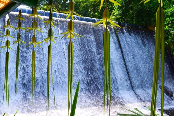The Labasin Hydroelectric Falls of Villa Escudero Plantations and Resort
