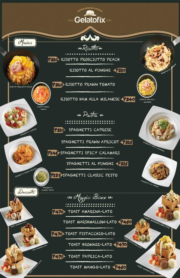 Gelatofix Manila Menu Board