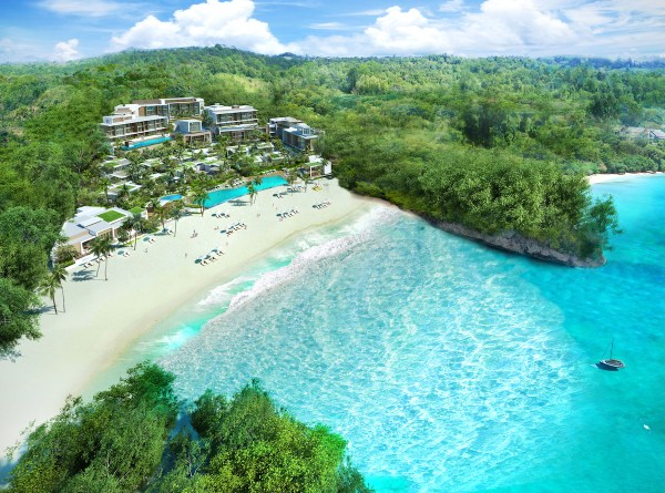 Aerial View of Crimson Resort and Spa Boracay