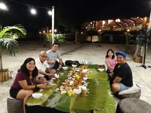 Boodle Fight Dinner By the Beach