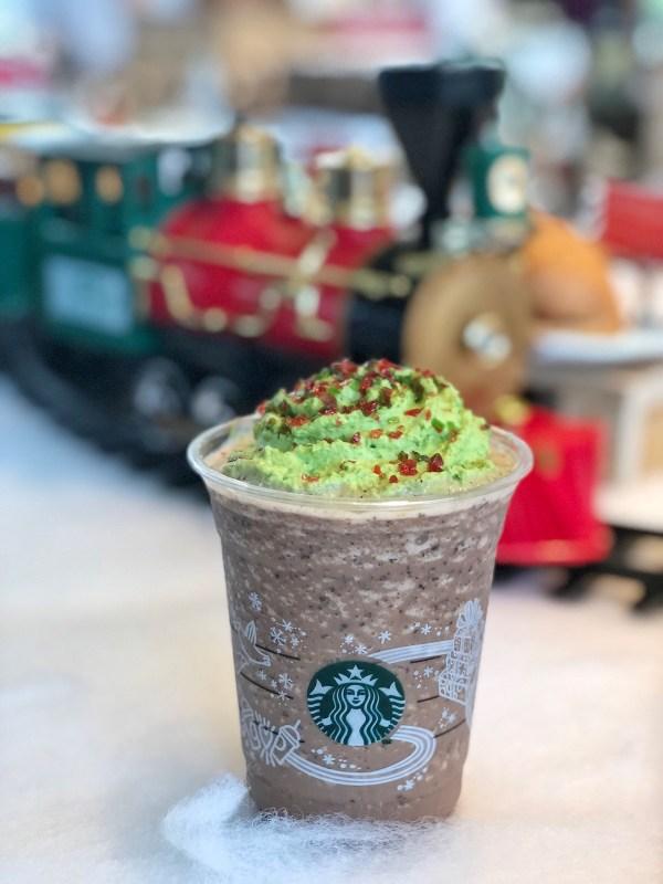 Christmas Tree Peppermint Dark Mocha Blended Beverage