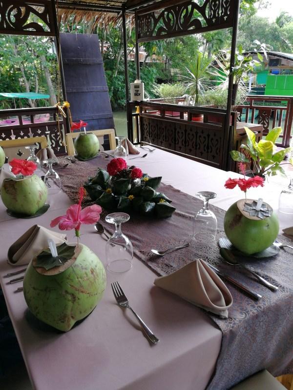 Inside the Floating Restaurant
