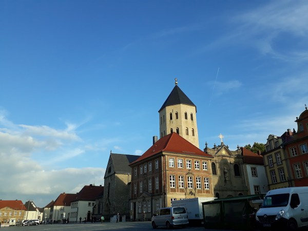 Here's the view of the Marktplatz.