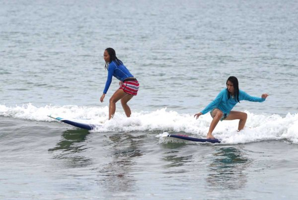 SURFING PHILIPPINES. In support of Reef's Free the Sea Movement, participants were given free surfing lesson hosted by Nalu Surf Camp.