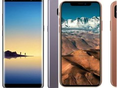 Samsung Galaxy Note 8 and iPhone X