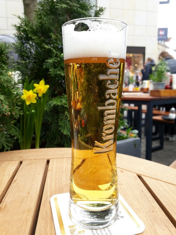 Best beer I have ever tasted: Krombacher