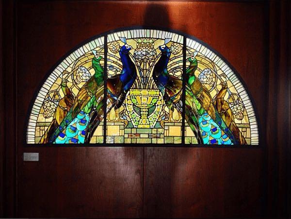 A decorated glass inside of Casina delle civette