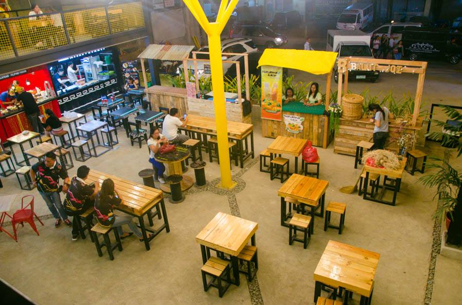 Dining Area at Boxed Up Food Park in Davao City