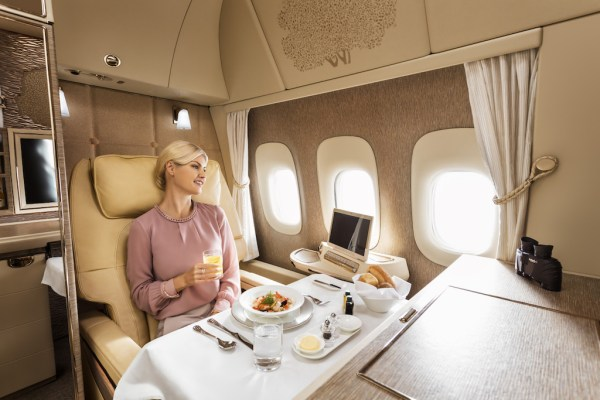 Emirates unveils new Boeing 777 first class cabins
