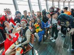 """Twenty-three participants from across Asia Pacific battled it out in """"AirAsia Destination"""" theme costumes at Crazy Jump Day 2017 at Macau Tower."""