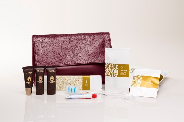Etihad Airways Christian Lacroix female amenity bag and contents Etihad Comfort Items