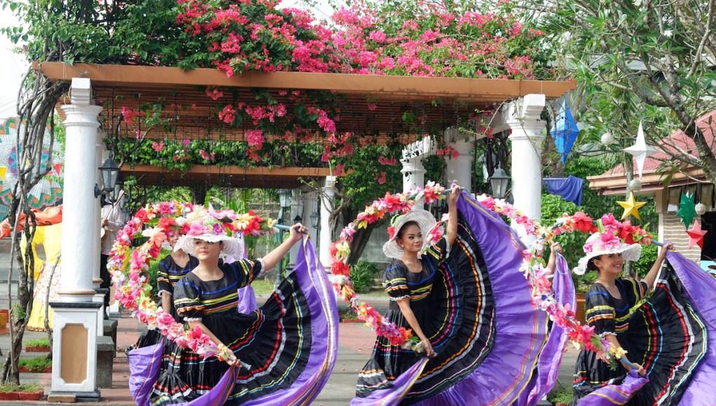 Folk Dancers in Nayong Filipino