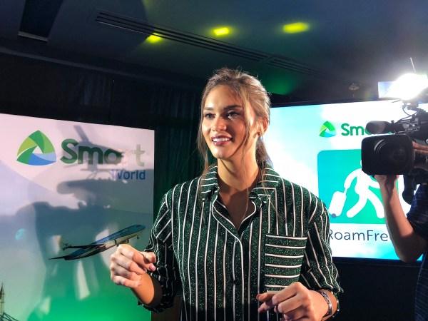 Miss Universe Pia Wurtzbach at the SMART RoamFREE launch