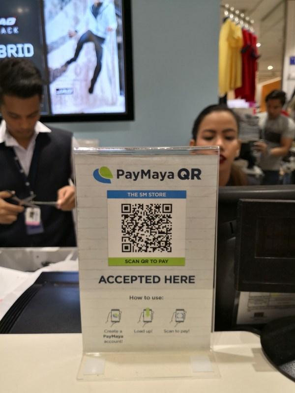 PayMaya QR Code at SM Department Store