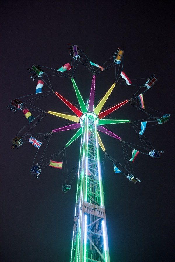 Witness a 360-degree view of Singapore's stunning skyline in the most exciting way by riding the Star Flyer, a huge 35-meter carousel, at the Prudential Marina Bay Carnival. Image courtesy of Prudential Marina Bay Carnival