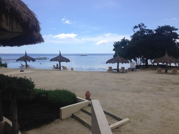 Bluewater Panglao's private beach, which adjoins the famous Alona Beach.