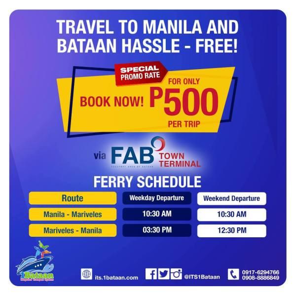 Ferry Boat Schedule: Manila to Mariveles, Bataan Vice Versa