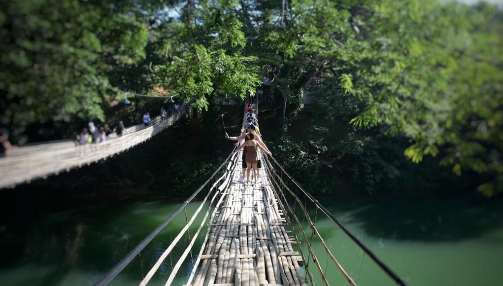Loboc River Bamboo Bridge