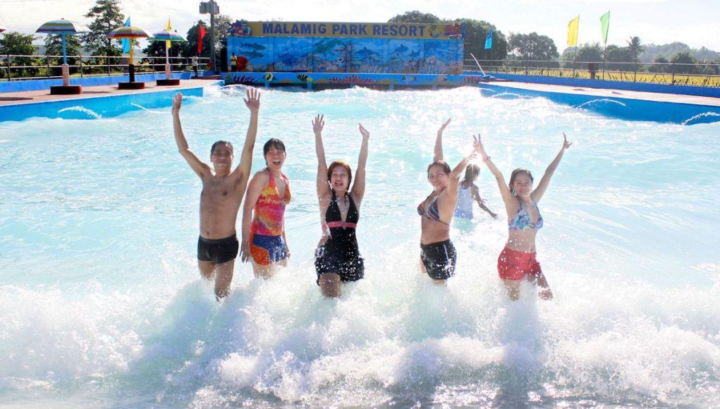 Malamig Park Resort in Bustos Bulacan