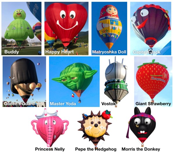 New special-shape balloons participating this year 2018