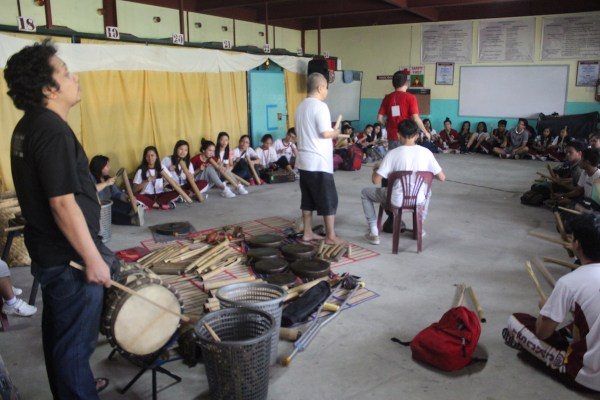 Playing of indigenous musical instruments