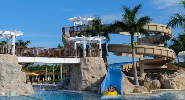 Inside Aquaria Water Park in Batangas.