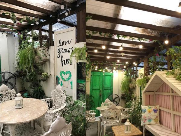 Impressive interior here at Secret Haven Cafe. Photo via Carissa Torres.