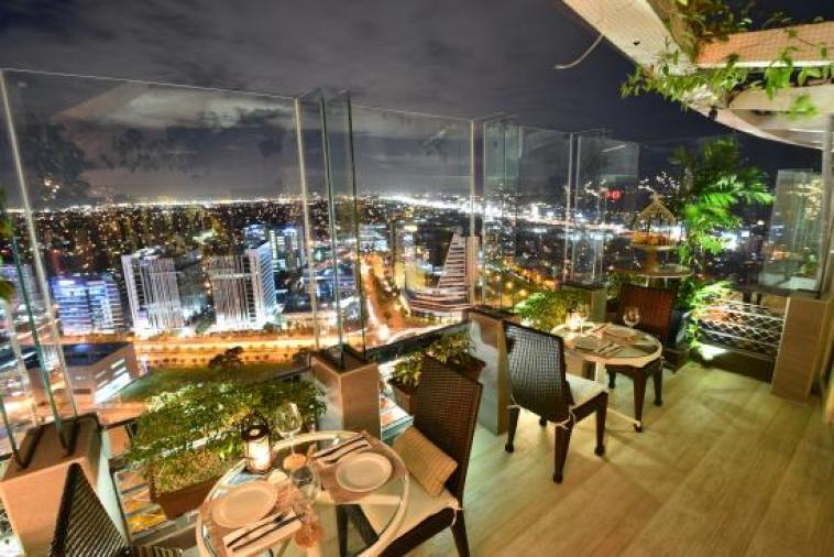 Experience a sky dining experience at The Nest. Image via TripAdvisor.