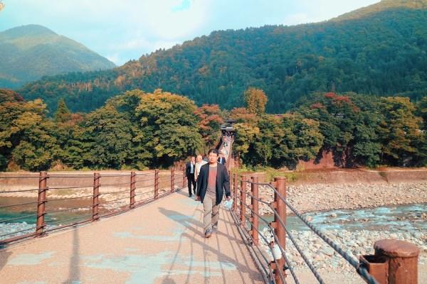 Footbridge to Shirakawa-go Village