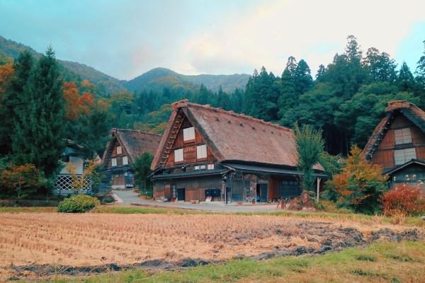 Historic Village of Shirakawa-go in Springtime