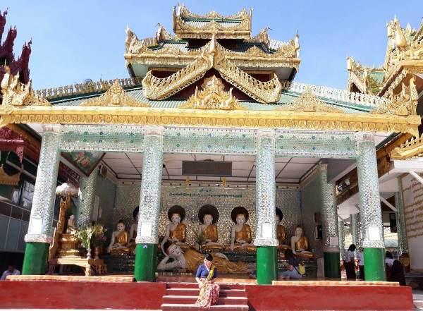 In Shwedagon Pagoda