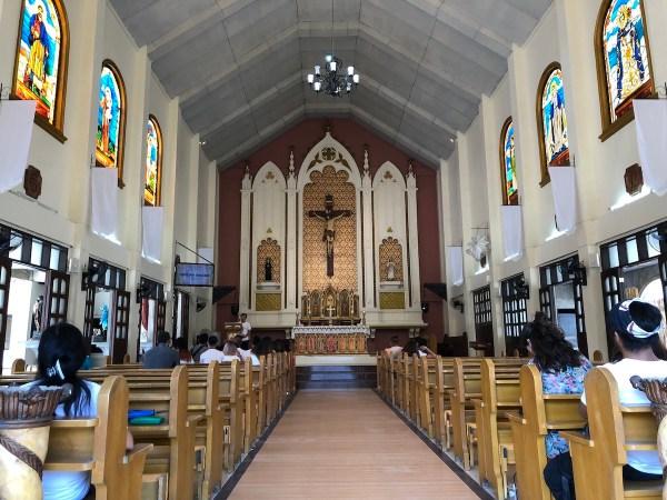Inside Sta. Faustina Kowalska of Poland Parish Church in Tarlac