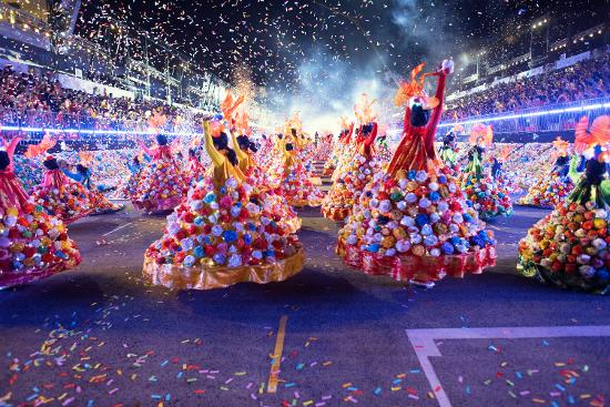 Witness an explosion of lights, colors, and cultures at Singapore's Chingay Parade.
