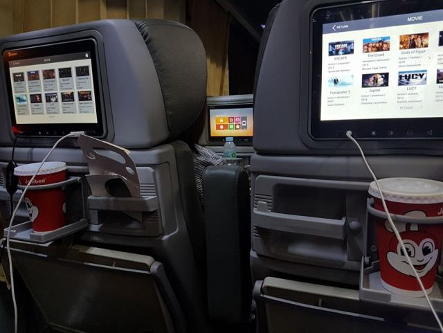 The bus is equipped with monitors as if you are in a first class flight. [Image Credit: Drew Ian / Facebook]