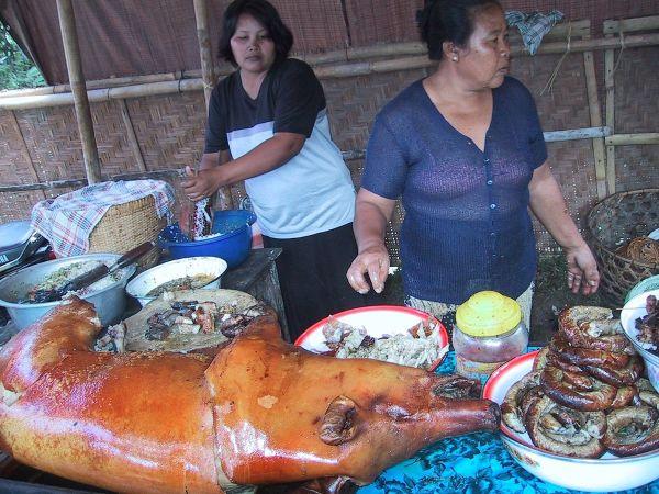 Balinese Babi guling or roasted suckling pig
