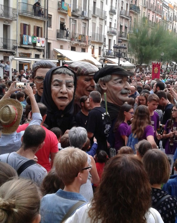 Big Head puppets on parade