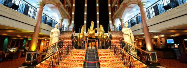 The luxurious grand staircase of the SuperStar Virgo Cruises. Photo taken via official Facebook page.