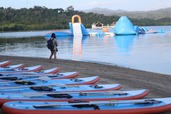 Kayaks at Kamia Bay.