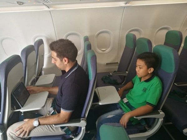 Inside the New Cebu Pacific Airbus A321 photo by Charo Logarta