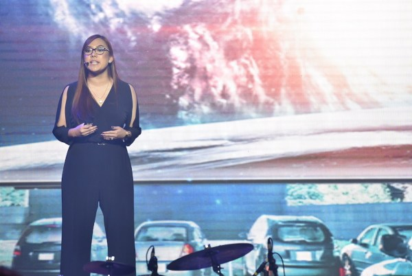 Lea Cua, Samsung Product Marketing Manager for Flagship Smartphones, present the features of the SAMSUNG Galaxy S9 and S9+ to Philippine Media.