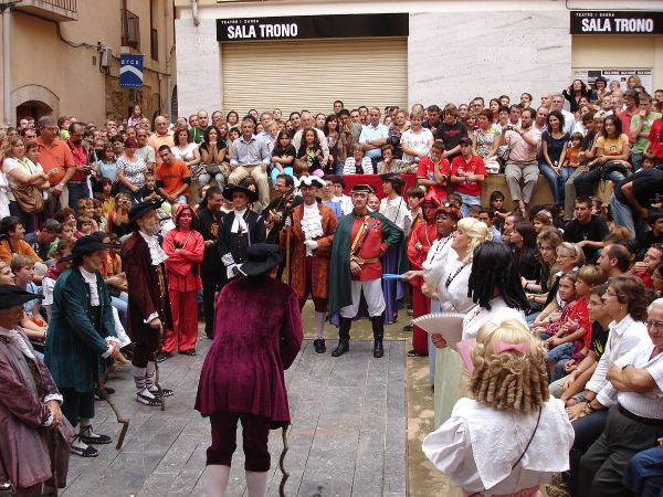 Performance of the Ball de Dames i Vells, Santa Tecla Festival