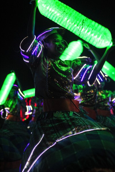 All participants of the Street Dance Competition were clad in LED lights.