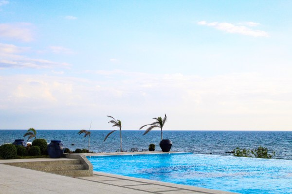 The pool area at the Fira Beach Club.