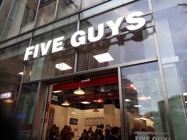 Five Guys facade