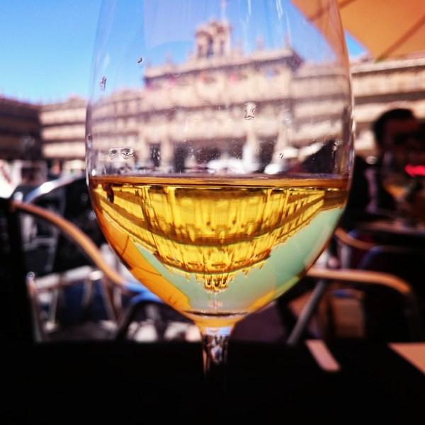 Tuscany of Spain - Glass of Wine in Salamanca