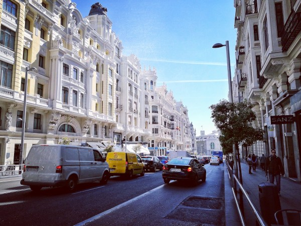 Gran Via Street Madrid Spain