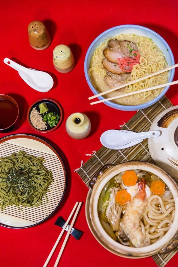 Noodle cravings Have your fill of Kitsho's ramen dishes like Tonkutso Ramen, Chasoba, and Nabeyakiudon.