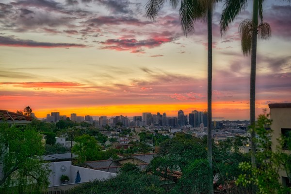 Sunrise in San Diego California