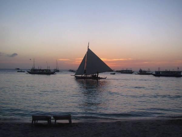 Sunset Paraw Sail